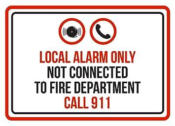 Local alarma sólo no conectado a Fire departamento Call 911 ...
