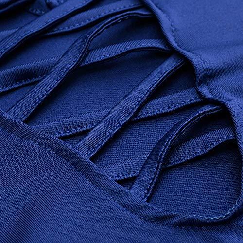 Camicetta xxl Elegante T Manica Rcool Senza Nera Maglietta Sexy shirt Sciolto Blue Camicia Donna 2019 S Casuale Spalline Lunga Blusa dPRwqwxUnE