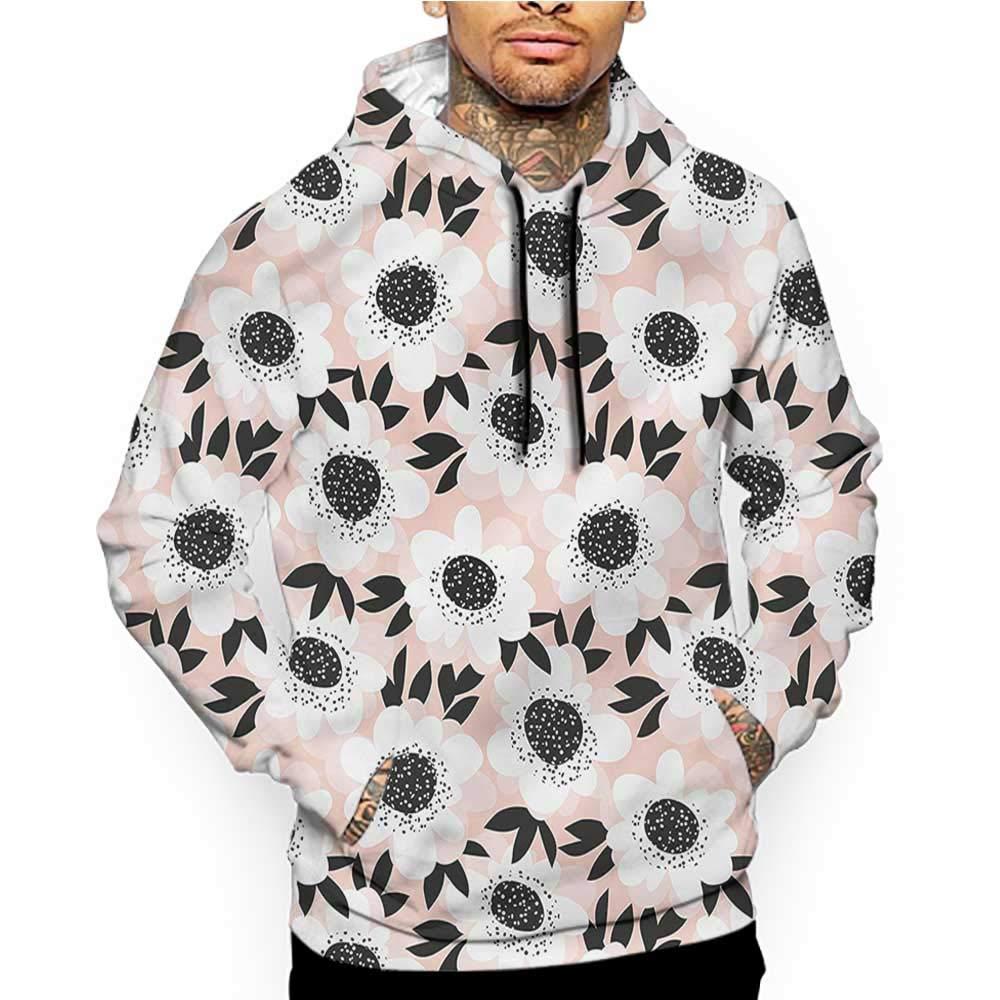 Hoodies Sweatshirt/Autumn Winter Floral,Zen Lotus with Dew Drops,Sweatshirt Blanket
