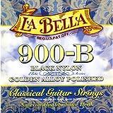 La Bella 900-B ラベラ クラシックギター弦 ブラックナイロン Golden Alloy Polished (28-43) 【国内正規品】