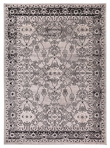 Comfy Collection Vintage Mahal Design Area Rug Oriental Traditional Antique Look 3 Different Color Options (Grey, 2' x 3'3 Mat)