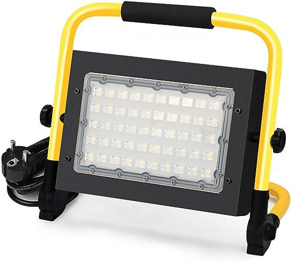 50W Foco LED Proyector,5000Lumens, IP65, Proyector LED giratorio ...