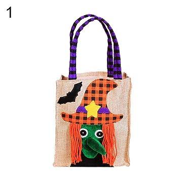 Amazon.com: Gilroy Halloween bolsas de caramelos para hacer ...
