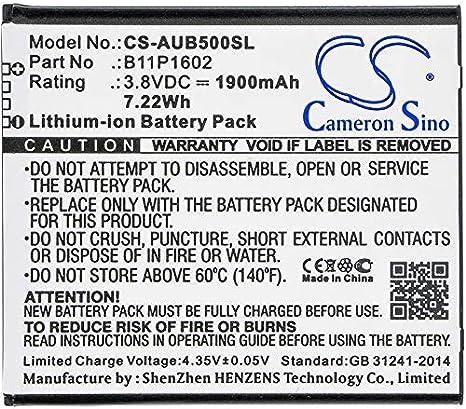 CS-AUB500SL Batería 1900mAh Compatible con [ASUS] X00A, X00ADA ...