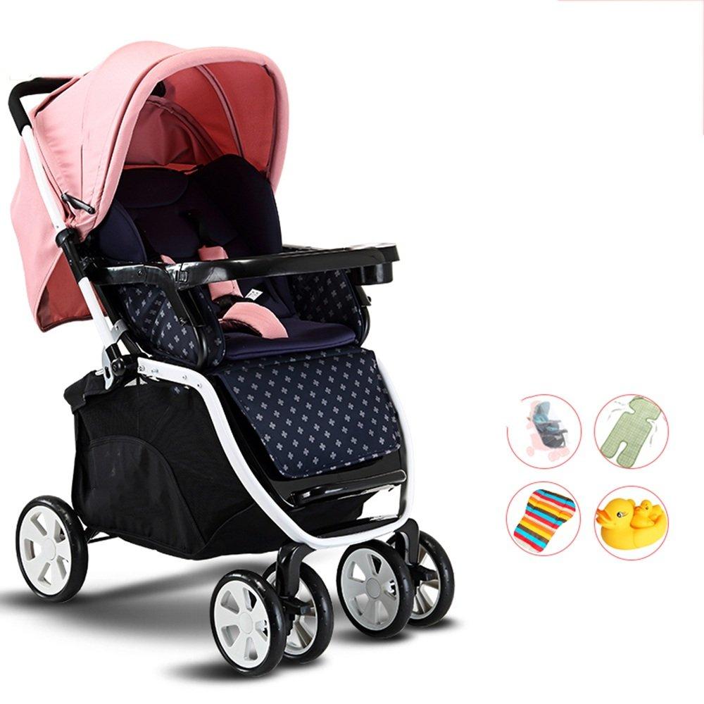 LVZAIXI 赤ちゃんのベビーカー、軽量折りたたみ四輪車、サスペンション、座ることができ、嘘つき、半ライクラコットンの日よけ ( 色 : B2 ) B07C7882FG B2 B2