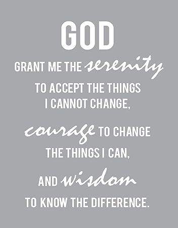 Amazon.com: Serenity Prayer Bible Verses Inspirational Wall ...