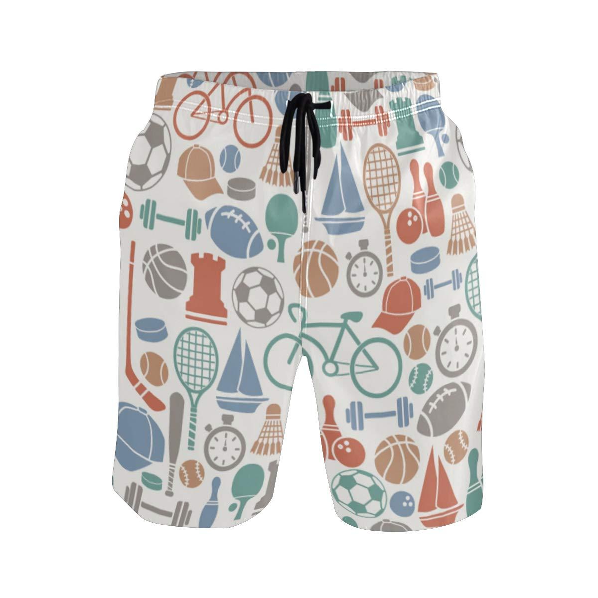 COVASA Mens Summer ShortsSport Icons