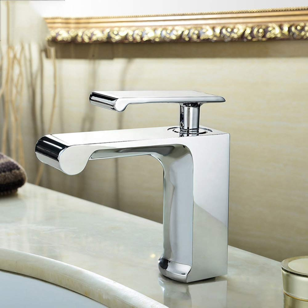 Silver 1 WJZ gold Copper Hot And Cold Basin Faucet Silver Wash Basin Basin Waterfall Faucet