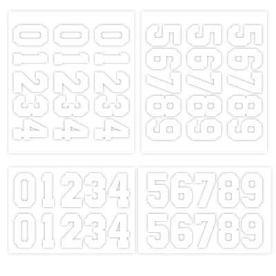 RUSPEPA 7.62Cm Transfers Number For Sport Camiseta, Blanco (5 Hojas): Hogar