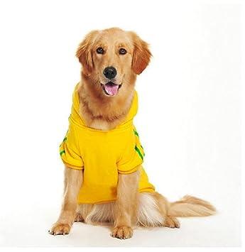 DUOZE Los Perros Grandes Perro Jersey De Lana Golden Retriever Husky Su Mu Labrador Gu Mu Ropa,Yellow-3XL: Amazon.es: Hogar