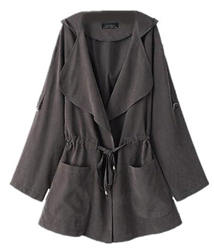 Kerlana Sudadera con Capucha Mujeres Capucha Suéter De Manga Larga Pull-over Color Sólido Coat Con Bolsillo Otoño e Invierno