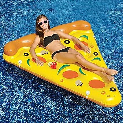 Pizza inflable piscina flotador Balsa, muitobom gigante Fiesta en la piscina flotador Balsa hinchable,