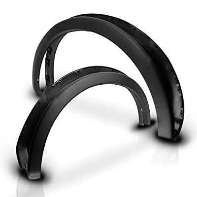 Fender Flares Compatible With 2009-2014 Ford F150 NOT FIT PLATIUM & RAPTOR | Factory Style Unpainted Black 4Pc Set Fender Flare Car Wheel Arches by IKON MOTORSPORTS | 2010 2011 2012 2013: Automotive