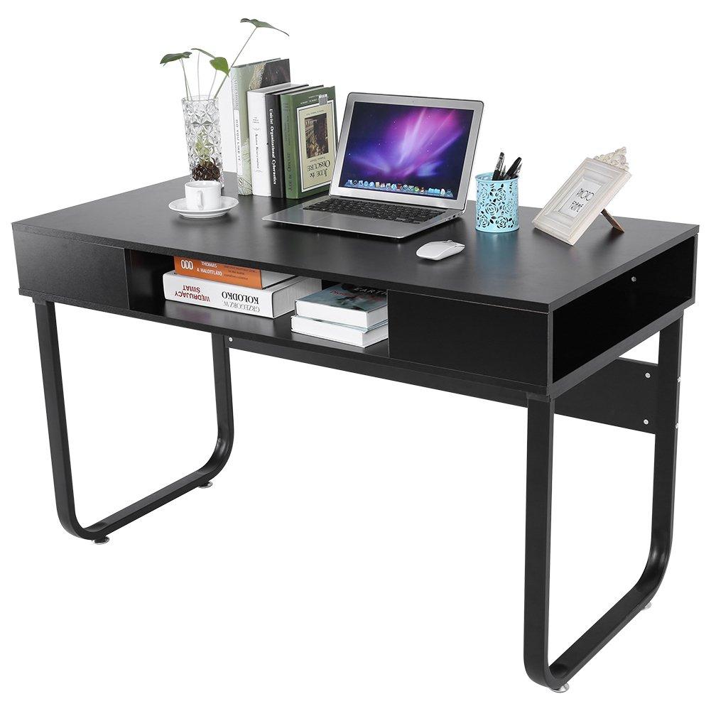 Grünsen Modern Arbeitsplatz Computer Schreibtisch Tabelle mit Lager Schublade zum Zuhause Büro Studie Schwarz 120 x 60 x 75cm