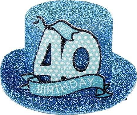 1 STK. Sombrero de fiesta de cumpleaños 40 años Fiesta ...