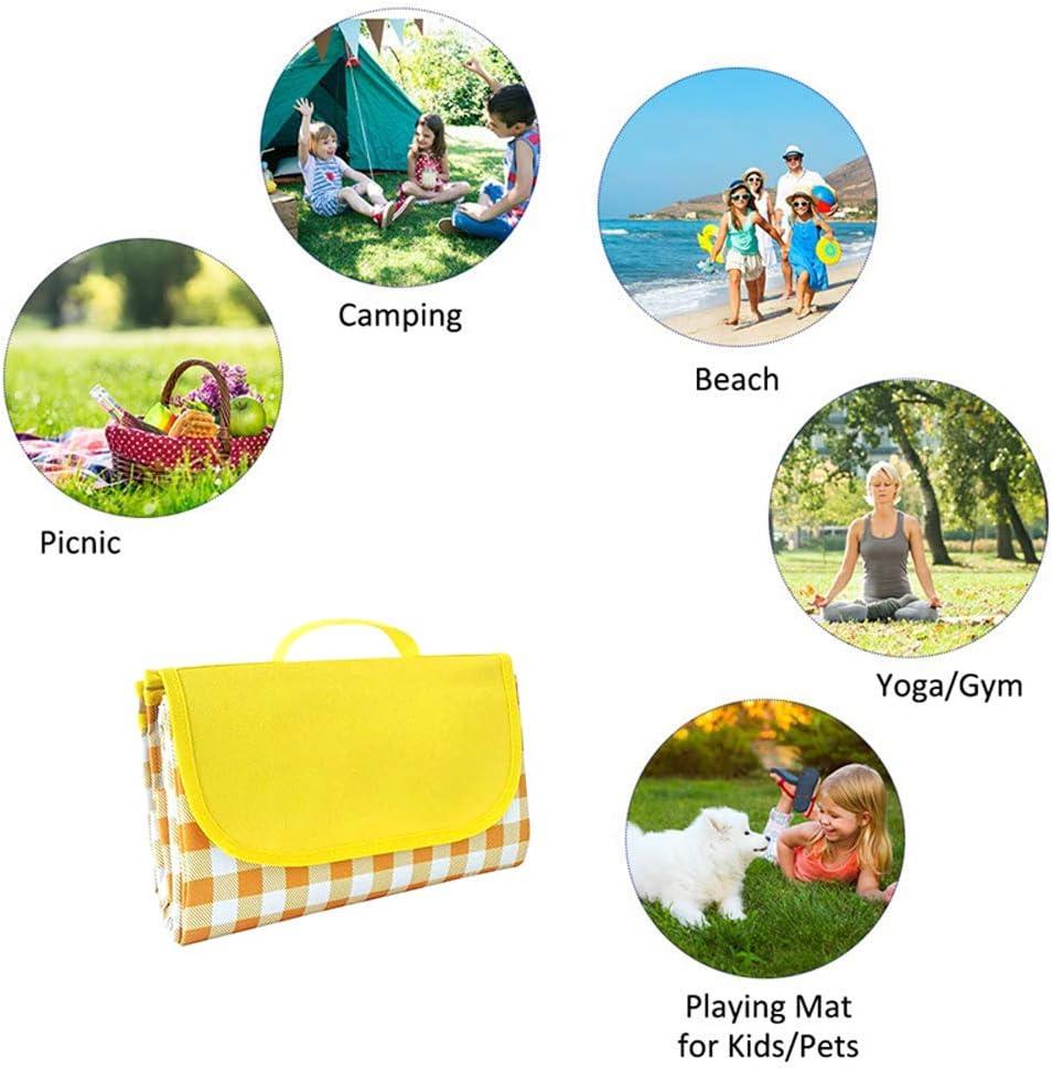 Coperta da picnic impermeabile extra large pieghevole San Proof in pile coperta portatile da campeggio con retro anti sabbia per famiglia, concerti, spiaggia, parco Verde 4.