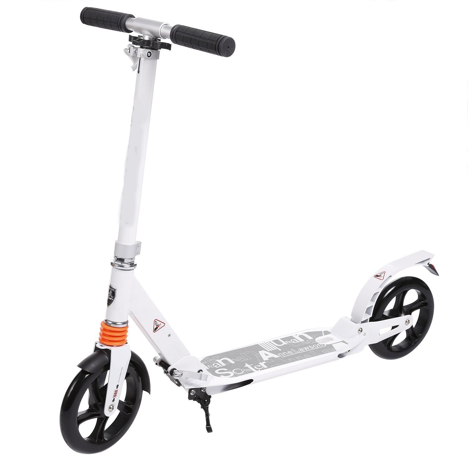 Scooter Aluminum Alloy Lightweight Height Adjustable T-Style Foldable Design Adults Teenagers-Hold To 220lb(US Stock)
