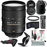 Nikon AF-S NIKKOR 28-300mm f/3.5-5.6G ED VR Lens and Bundle w/ Xpix Camera Tripod, Cleaning Kit + UV Filter + More