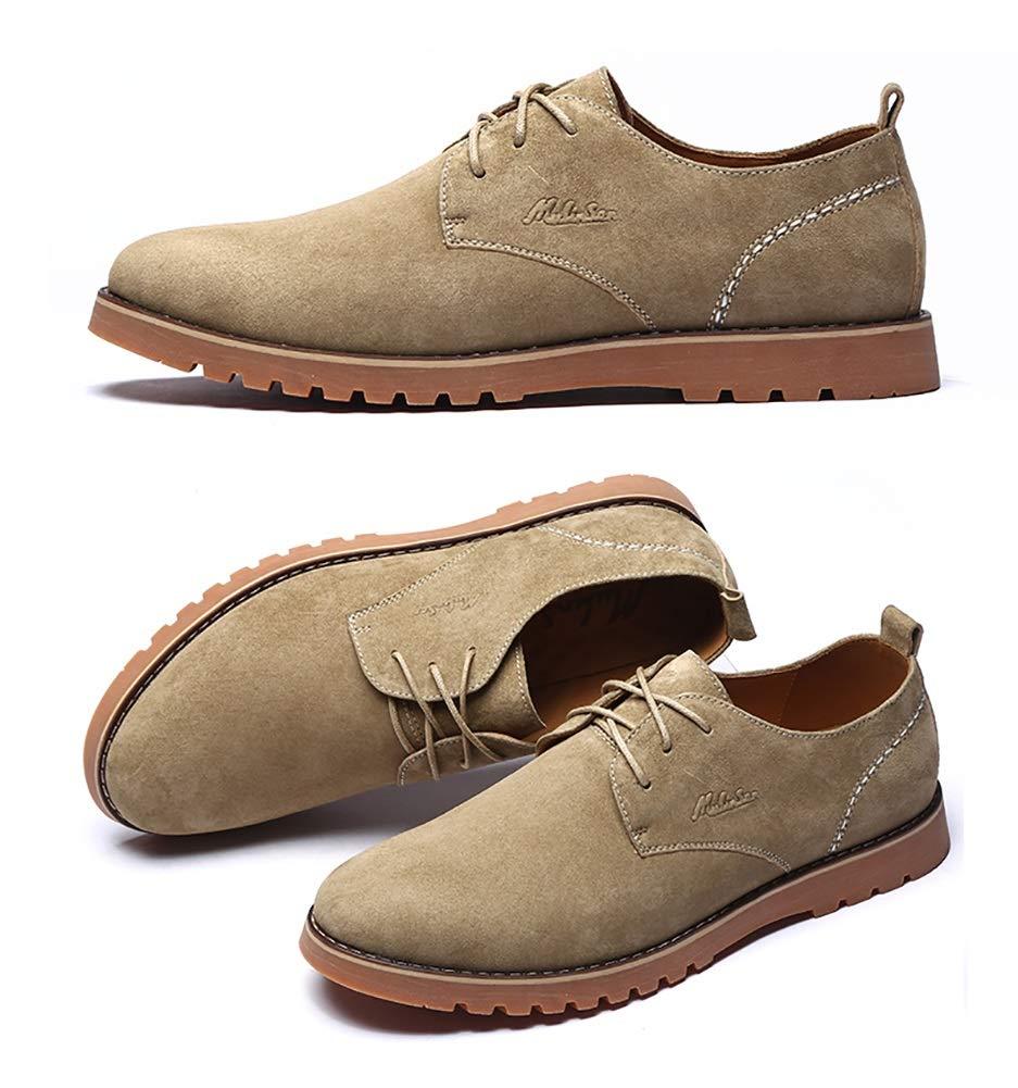 ... LXLA- Herren Retro Casual Lederschuhe Schuhe Lace up Bequeme Tooling  Schuhe Lederschuhe Für Männer ... 46f66e7420