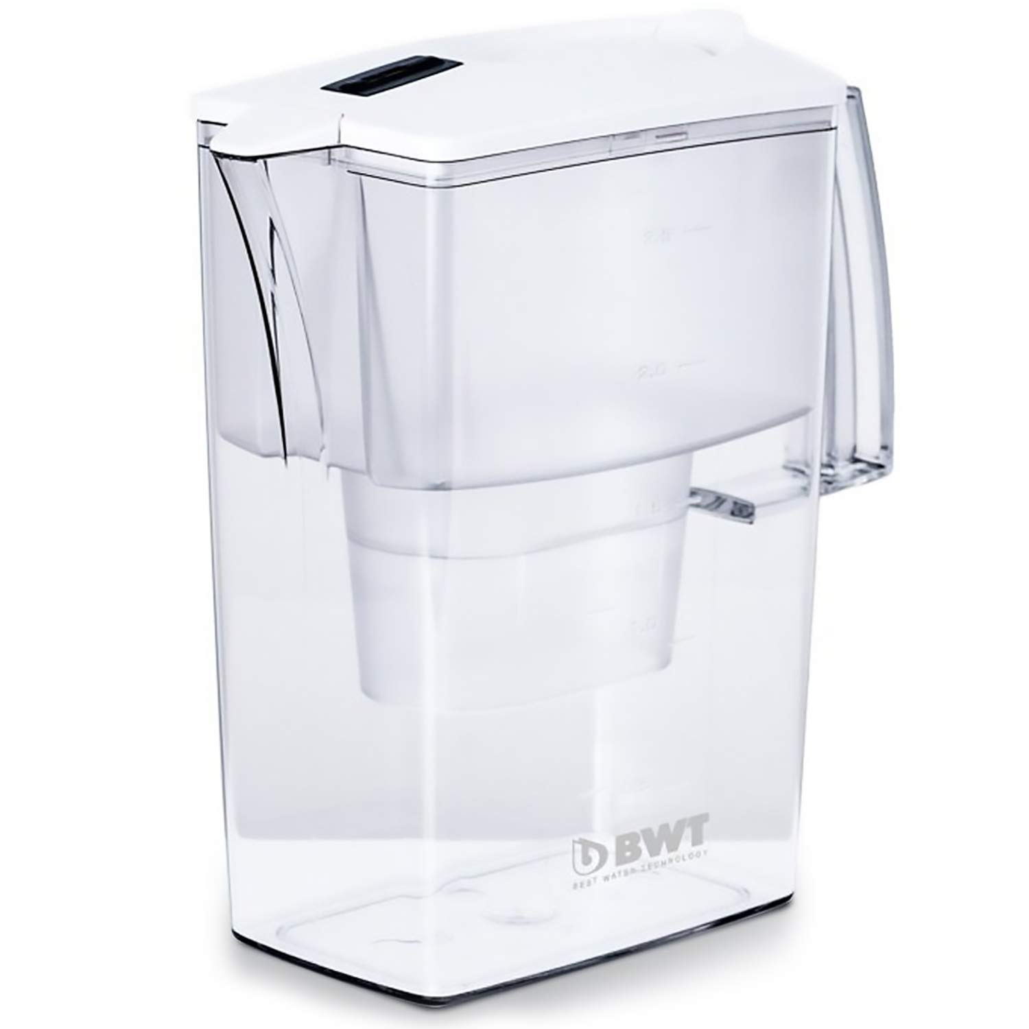 BWT Award Winning Austrian Quality Compact Water Filter Pitcher, Patented Magnesium Technology for Superior Filtration and Taste (Bonus 60 Day Filter Included) BPAFree