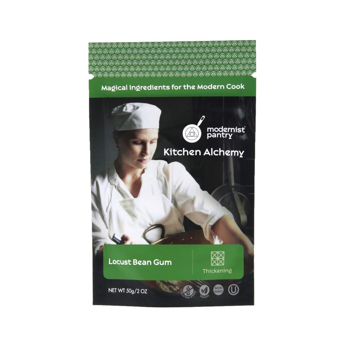 Food Grade Locust Bean Gum (Molecular Gastronomy) ⊘ Non-GMO ☮ Vegan ✡ OU Kosher Certified - 50g/2oz