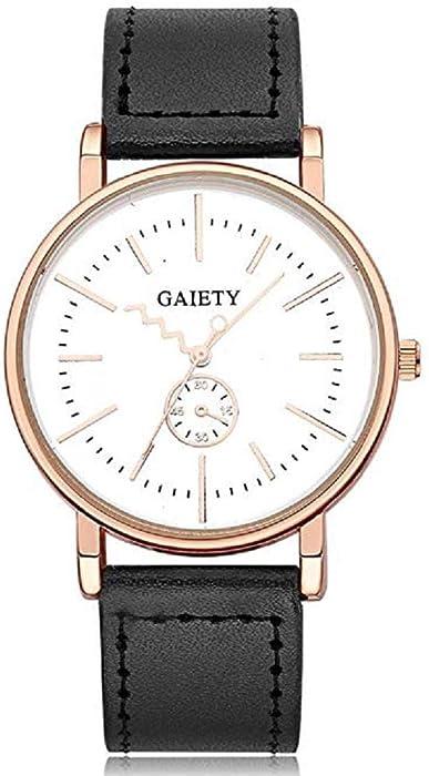 ¡Promoción Relojes de Cuarzo para Hombre Liquidación Relojes analógicos únicos en Oferta Relojes de Pulsera de Cuero para Hombres