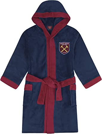 West Ham United FC Dressing Gown Robe Unisex Fleece - Official Football Gift