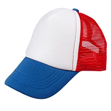 467225cbfea68 Children Sports Cap Baseball Cap Mesh Hat Fitted Caps Red Blue White ...