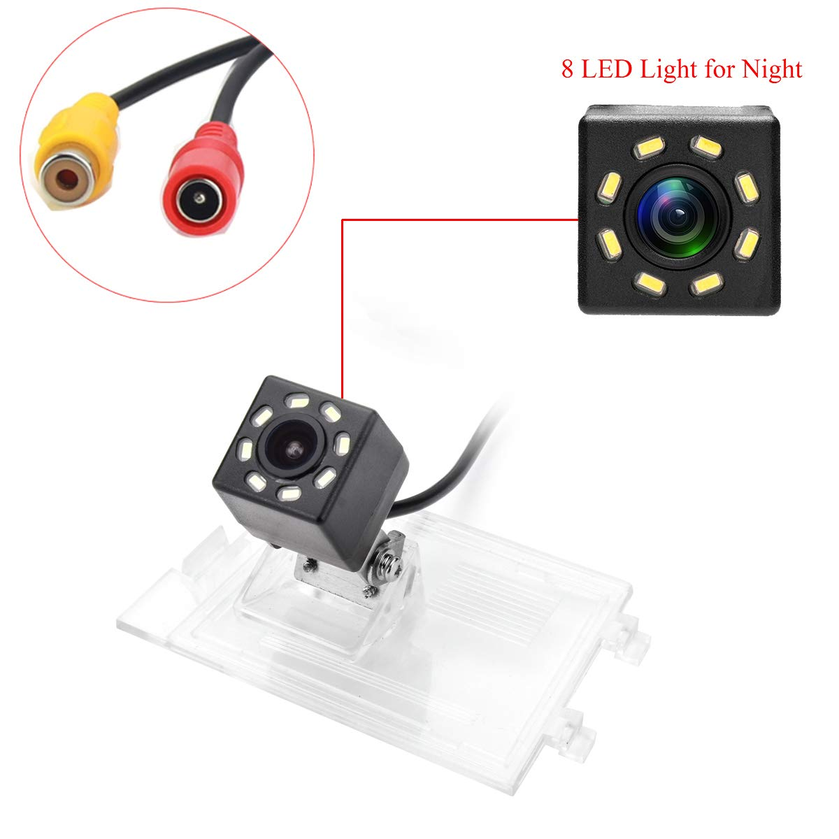 aSATAH 8 LED Adjustable Angle Car Rear View Camera for Jeep Compass//Jeep Patriot//Jeep Liberty 2011~2015 /& Vehicle Camera Waterproof and Shockproof Reversing Backup Camera 8 LED Adjustable Angle