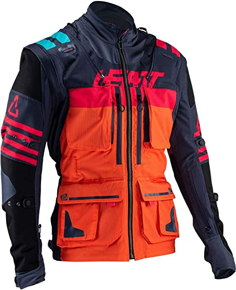 Leatt GPX 5.5 Enduro Riding Jacket (2X-Large, Ink/Orange)