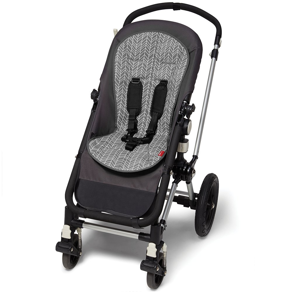 Skip Hop Stroll-and-Go Cool Touch Stroller Liner, Grey Feather by Skip Hop (Image #3)