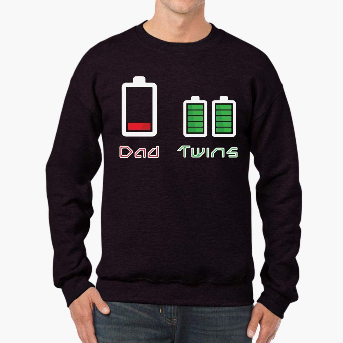 Dad Twins Battery Charge Funny Unisex Sweatshirt tee