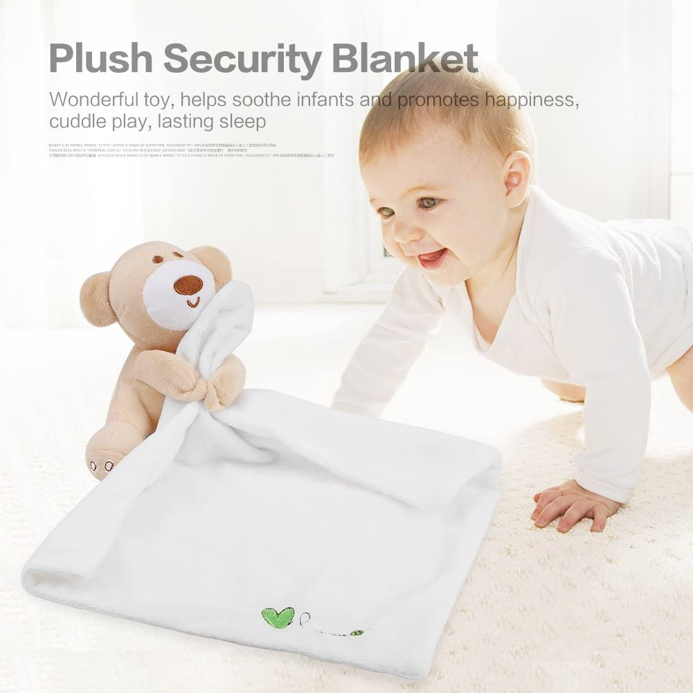 Lovely Plush Soother Security Blanket Soft Baby Kids Toy Newborn Appease Towel Pink