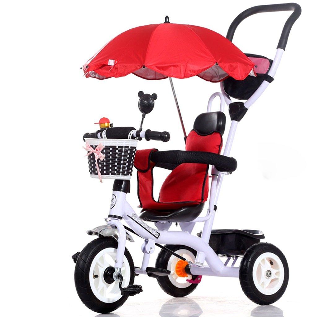子供の三輪車1-5歳の自転車トロリー赤ちゃんの赤ちゃんキャリッジ子供の自転車、紫/赤/青/白/ピンク、71 * 105センチメートル ( Color : White ) B07C582N77
