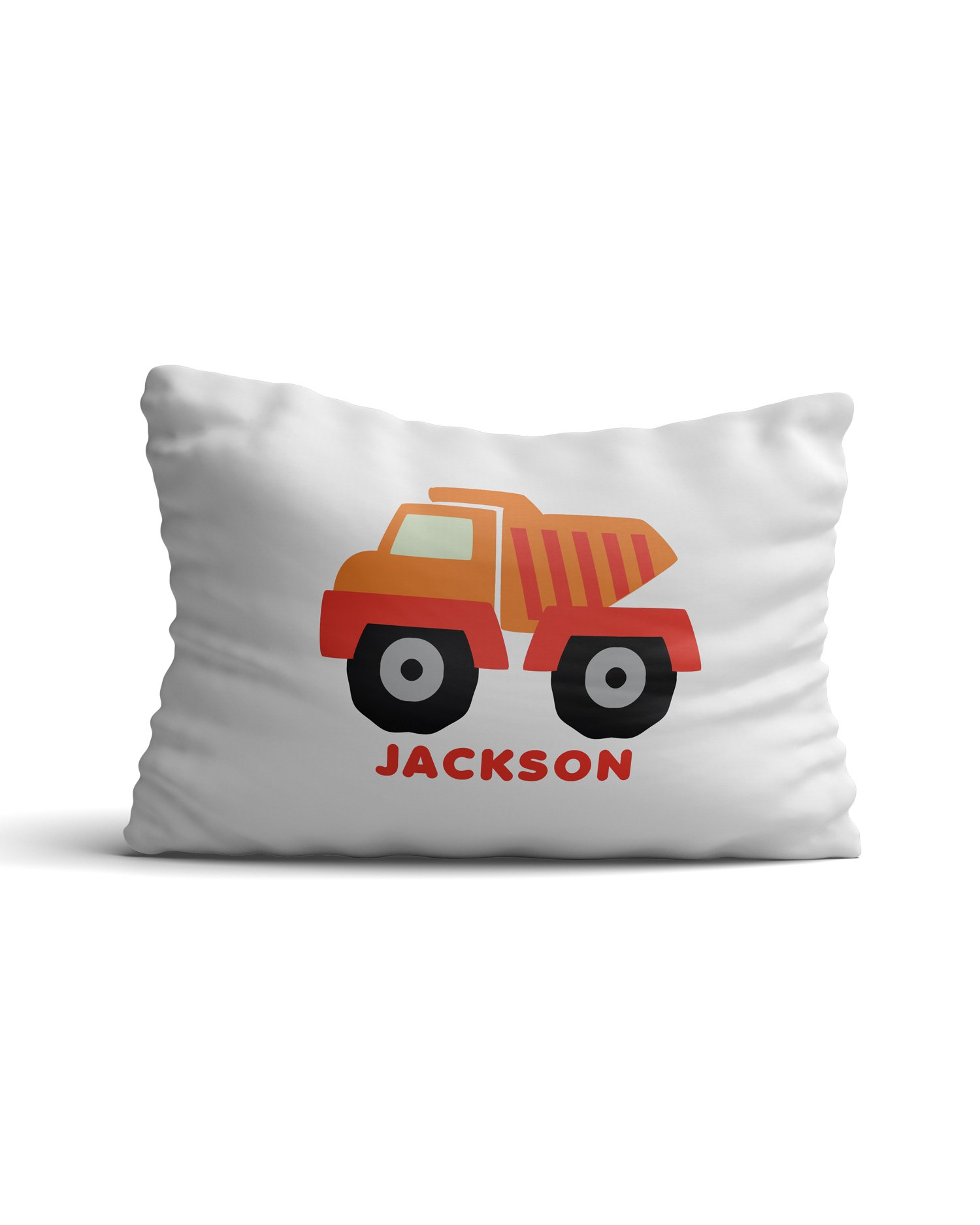 Desert Cactus Personalized Custom Kids' Pillowcase with Name Dump Truck Boy Version Boys & Girls Pillow Case Bedroom