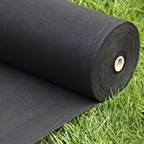 Pro 5 Ounce Weed Barrier - Weed Control Landscape Fabric - Woven Geotextile Fabric - Erosion Control Mulch Mat - Garden Ground Cover Fabric - 6Ft X 250Ft Black