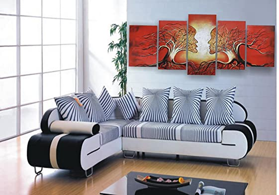 Asian Home Modern Abstract Art Oil Painting Stretched Ready to Hang OPZ-5-19