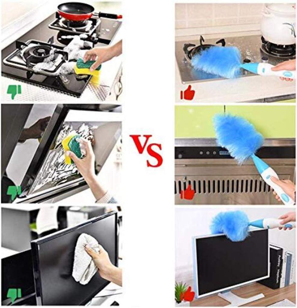 Life HS Collecteur de poussi/ère /électrique /à Brosse rotative Feather Duster Brosse de Nettoyage /à adsorption /électrostatique Automatique Multifonction rotative