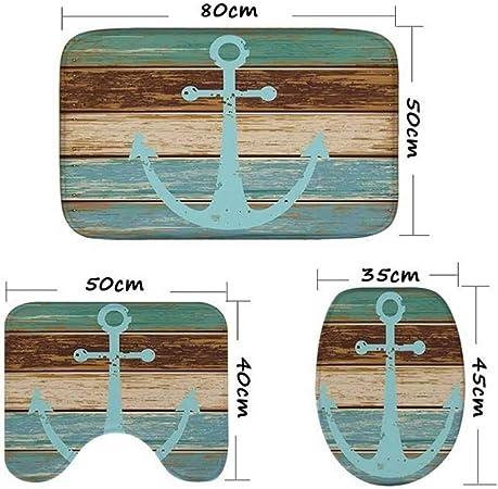 patr/ón de ballena antibacteriano duradero antideslizante Alfombrilla de ba/ño Qulable para ni/ños resistente al moho material de goma inodoro lavable a m/áquina