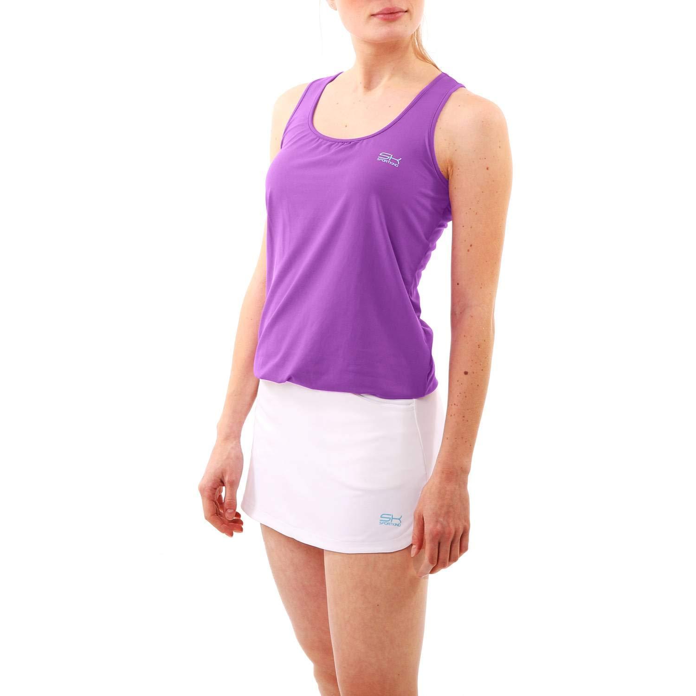 Sportkind Mädchen & Damen Tennis, Fitness, Yoga Balloon Tanktop