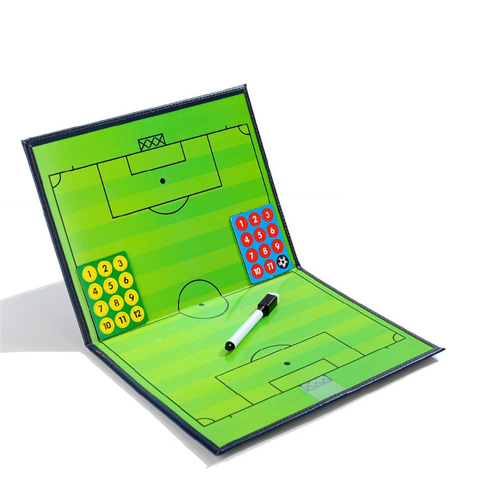 17.32'' x 12.6'' Coaches Tactical Board, RoseFlower Portable Professional Football/Soccer Magnetic Tactics Strategy Clipboard Training Assistant Equipment with Erasable Write-Wipe 2 in 1 Pen and Eraser