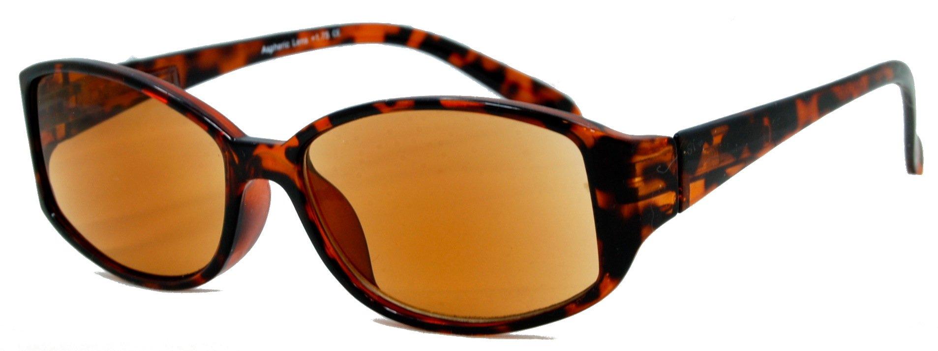 In Style Eyes Stylish Full Reader Sunglasses/Tortoise 2.00 Strength
