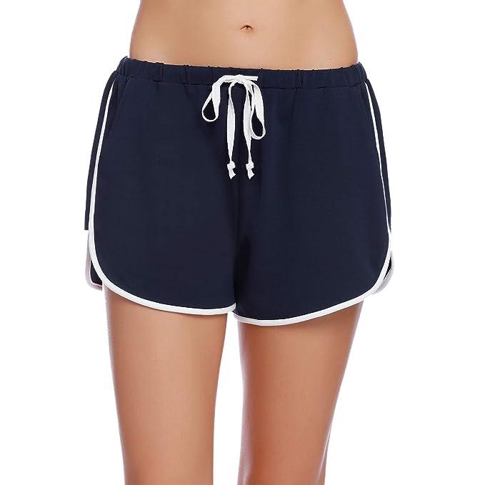 iClosam Pantalones Mujer Corto Deportes Yoga Casual Gimnasio ...