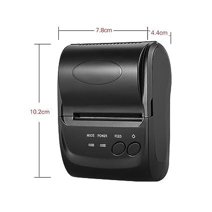KKmoon POS-5802DD Mini Portable Wireless USB Thermal Printer Receipt Ticket POS Printing for iOS Android Windows
