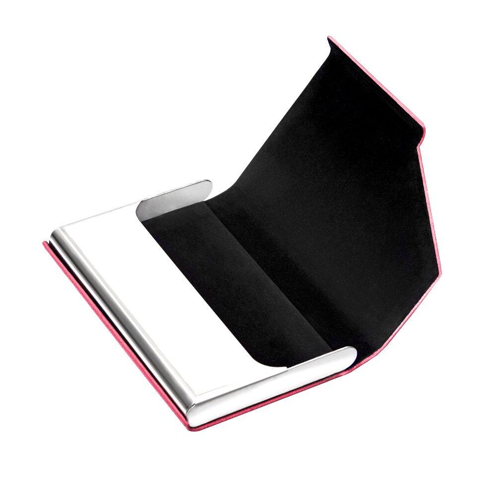 de cr/édit article mixte pour homme et femme ; prot/ège vos cartes de visite bleu Padilike Porte-cartes en imitation cuir et acier inoxydable pour cartes de visite d/'identit/é