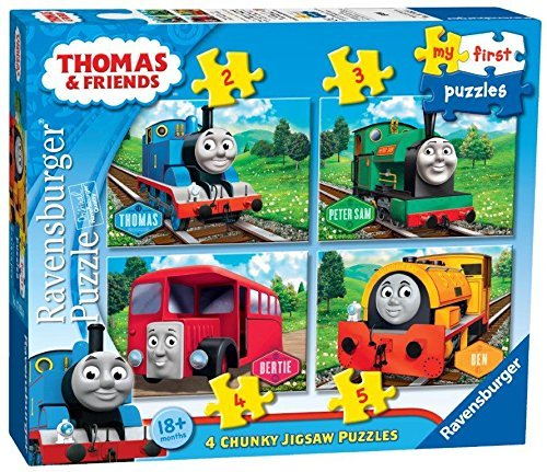 Genuine xRavensburger Thomas and Friends Thomas The Train 4 in a Box Puzzles 18+ Months