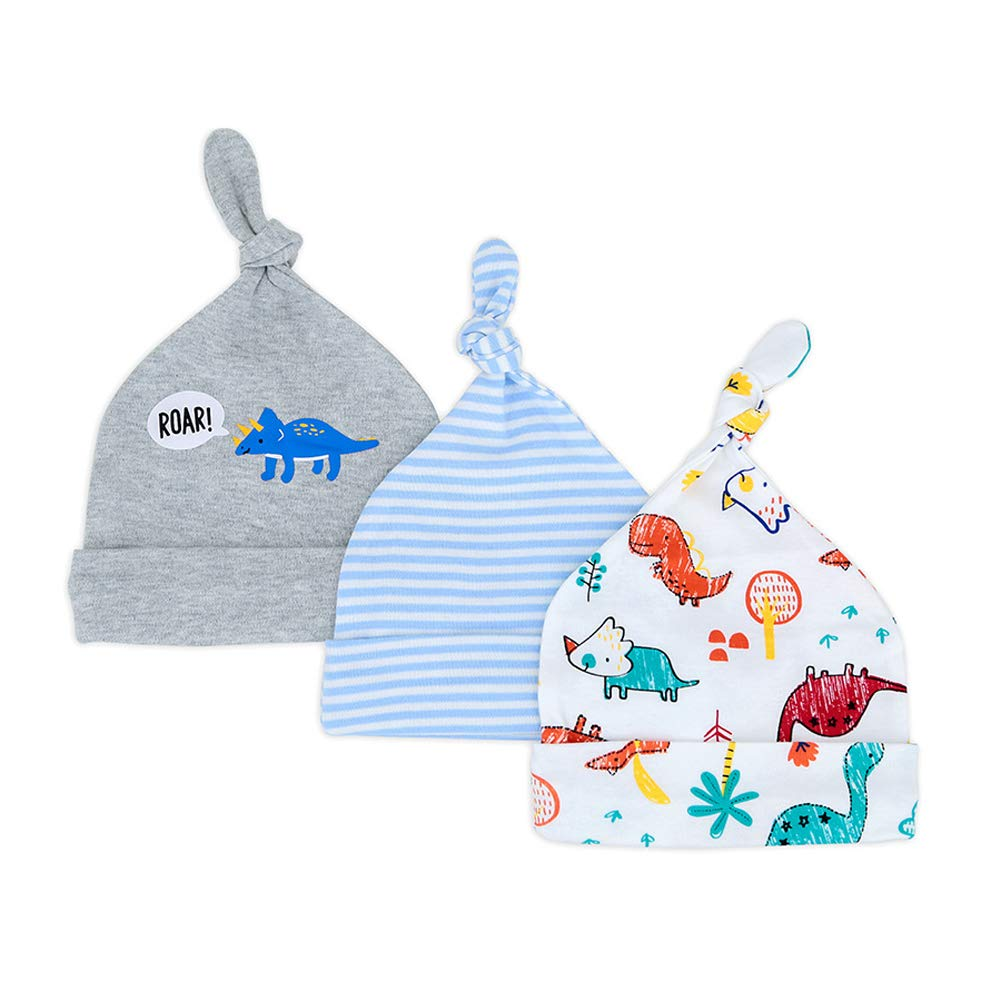 ad949eb50 Amazon.com: Newborn Hats for Boys Soft 100% Organic Cotton Baby ...