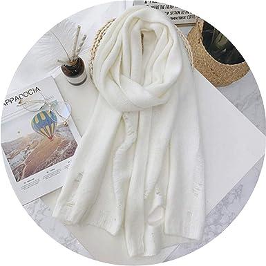 Amazon.com: Bufanda de punto para mujer, cálida, de invierno ...