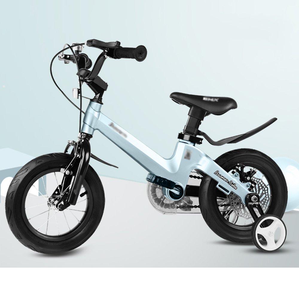 HAIZHEN マウンテンバイク 子供用自転車 トレーニングホイール付きの少年の自転車と少女の自転車 12インチ、14インチ、16インチ、18インチ 子供用ギフト 新生児 B07C6F8J9C 12インチ|青 青 12インチ