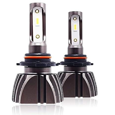 9005/HB3/H10 Coche LLEVÓ Bombillas de Los Faros 72W 7200LM LED Luz Delantera